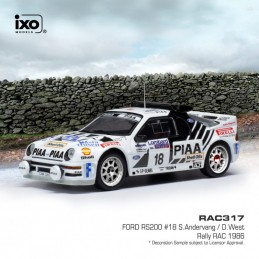 1/43 Ford RS200 18 RAC...
